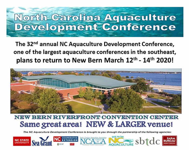 Flyer for the North Carolina Aquaculture Development Conferance