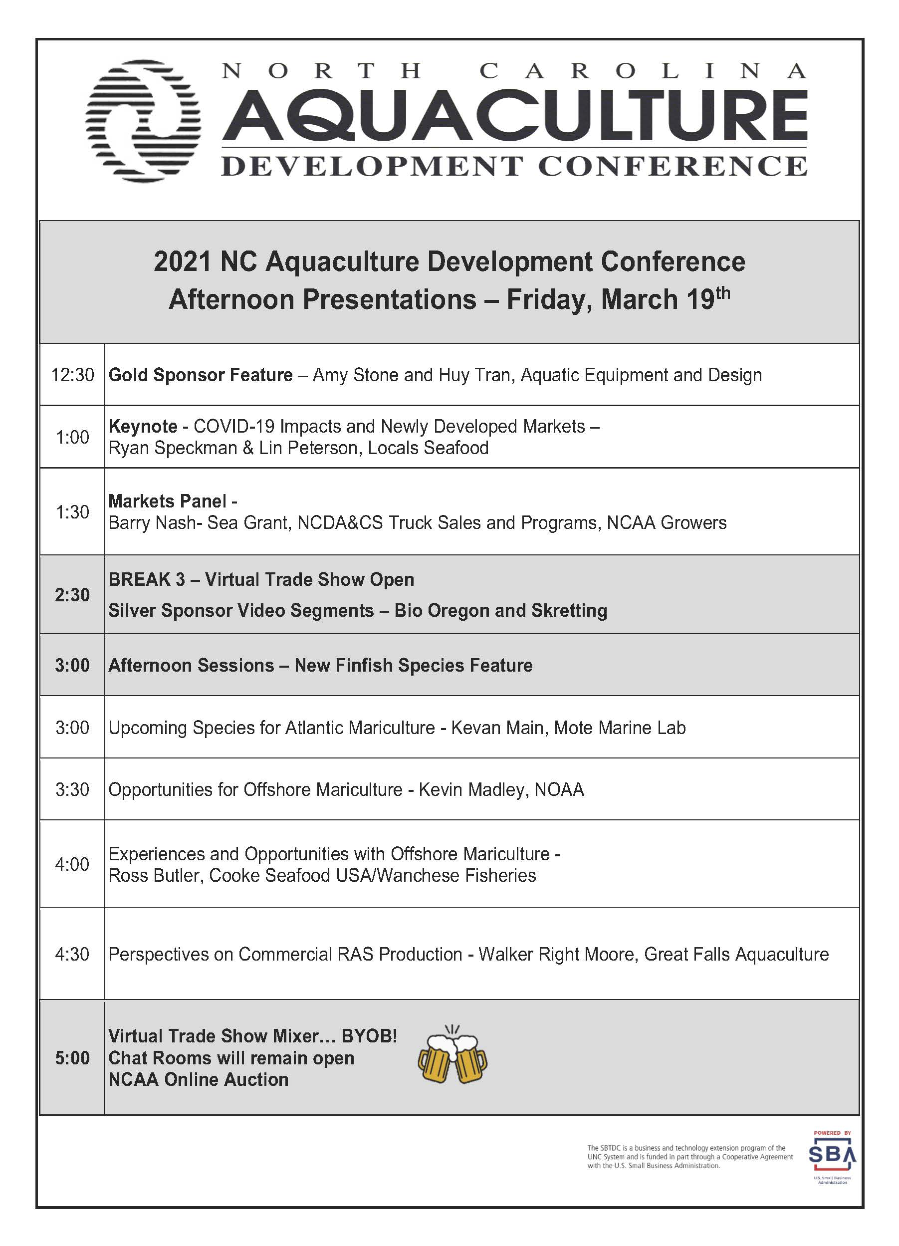 Friday conference agenda 2